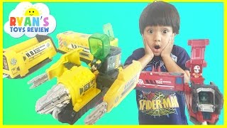 Takara Tomy Toy Trains for Kids Japanese Tomica Rescue Liner and Builder Liner Ryan ToysReview
