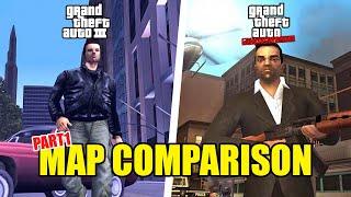 GTA 3 vs. Liberty City Stories - Map Comparison