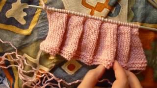 تنورة جيبة مكسرة من التريكو - knitting skirt