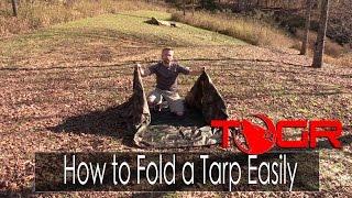 How to Fold a Tarp Easily