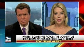 Pam Bondi Protests are not going to deter President Trump