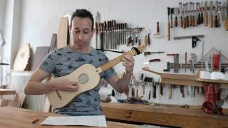 "Israel Golani playing Adrian Le Roy´s ""Pimontoyse"" on a  Renaissance guitar made by Alfonso Marin"