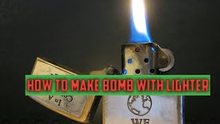 🔴 How to make bomb with lighter at home