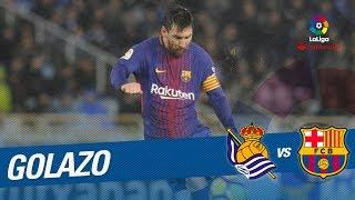 Golazo de Messi (2-4) Real Sociedad vs FC Barcelona