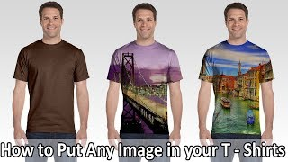 How to Put images on T - Shirts in Photoshop 7.0 | Photoshop Tutorial