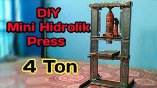 Diy Hidrolik Press Dari Dongkrak 4 ton