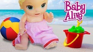 Oyuncak Bebekler Plaj da Oyun Oynuyor - Baby Alive   Oyuncak Butiğim
