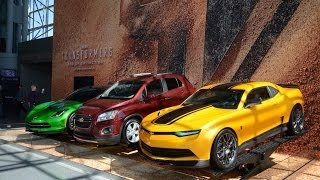 Transformers 4 Age of Extinction Movie Cars! Chevrolet Camaro Bumblebee, Corvette Stingray C7 & SUV!
