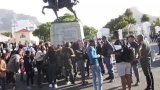 UCT Anti Afrophobia march turns violent // stun grenades