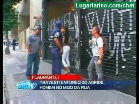 Travesti ataca a un hombre en Brasil