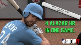 Pepe Alazar 4 HR in One GAME?! [RANKED SEASONS] MLB The Show 17 Diamond Dynasty