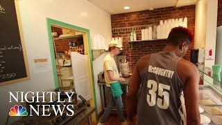 Hoops To Scoops: Basketball Star Finds Success Opening Ice Cream Parlor | NBC Nightly News