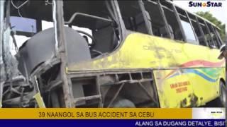 39 naangol sa bus accident sa Cebu