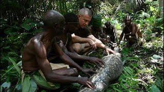Nat Geo WILD || Kalahari tribes hunting GIANT SNAKE  || BBC Documentary Histrory
