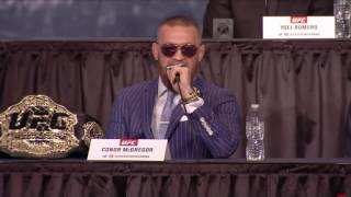 UFC 205 Press Conference Conor McGregor: Who the fuck is that guy?!