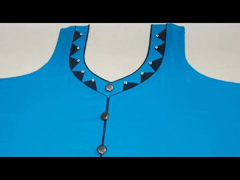 Latest Front Neck Designs with Triangle Pattern Cutting and Stitching