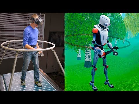 The Infinadeck Omnidirectional Treadmill Smarter Every Day 192 VR Series