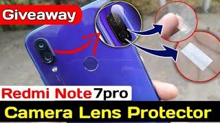 Redmi Note 7 Pro Camera Lens Protector Giveaway,  Mi official Camera lens Guard