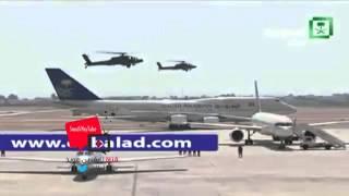 استقبال مهيب لـ الملك سلمان بالطائرات ومروحيات الجيش المصري #القمة_العربية (26)