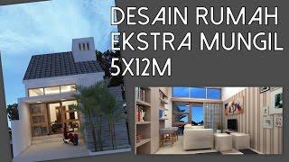 Desain rumah 1 lantai ekstra mungil 5x12m