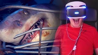 "SHARK ATTACK! - Playstation VR ""Shark Encounter"" Gameplay"