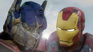 Iron Man Vs Optimus Prime HD   HulkBuster