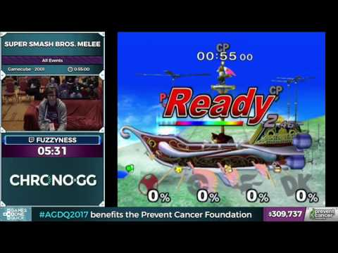 watch Super Smash Bros. Melee by fuzzyness in 37:42 - Awesome Games Done Quick 2017 - Part 57