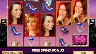 SEX AND THE CITY Video Slot Casino Game with a DIAMOND FREE SPIN BONUS