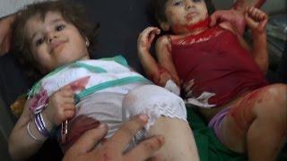 ريف دمشق دوما مذبحة  ترتكبها قوات الاسد..18+ مقاطع مؤلمة نعتذر لقساوة المشهد