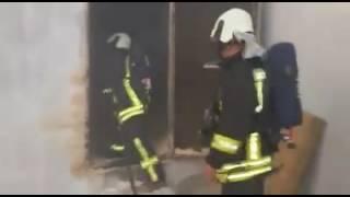 Pamukkale ilçesi karşıyaka mahallesinde meydana gelen talas deposu yangını