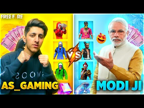 A s Gaming Vs Modi Ji Best Best Collection versus 😍 Who Will Win Garena Free Fire