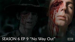 The Walking Dead Season 6 Episode 9 Carl 'No Way Out' 6x9 Scene