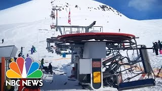 Terrifying Ski Lift Malfunction Caught On Camera   NBC News