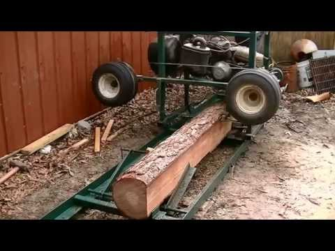 Home made sawmill from a old golf cart works great.