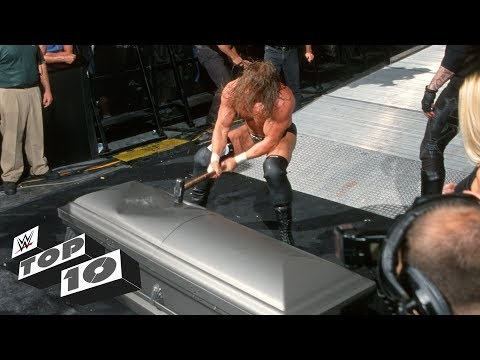 Trapped Superstars getting smashed WWE Top 10 Sept. 17 2018