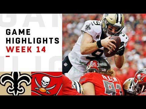 Saints vs. Buccaneers Week 14 Highlights | NFL 2018