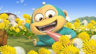Alien Monkeys 🙈 Dandelion - Intruder 2 - Poisonous spider - Animation for Kids