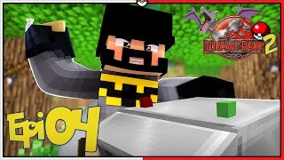 MINECRAFT JURASSIC PARK 2 #4 - CONSTRUINDO A MÁQUINA CLEANING STATION