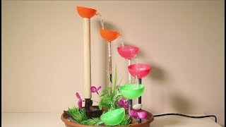 How to make Tabletop Fountain using Recycled plastic ball | Diy waterfall