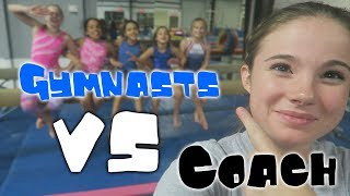 Gymnasts VS Coach - Gymnastics Obstacle Course| Rachel Marie