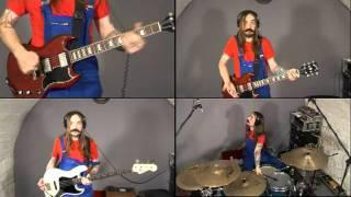 Thème de Mario à 4 : guitare 1 et 2, basse, batterie !