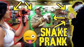 Boyfriend Snake  Prank  on Mark Dohner