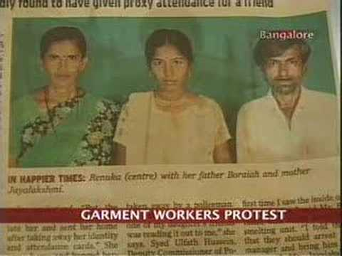 Garment workers protest in Bangalore