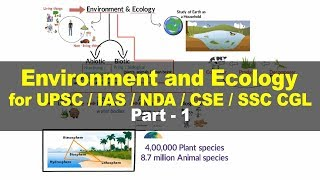Basic concepts of ecology and environment - Environment and Ecology for UPSC IAS Part 1