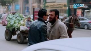 حياتنا - رد فعل سائق تاكسي عندما اوقفة شخص وقال له  (ماعيش فلوس)