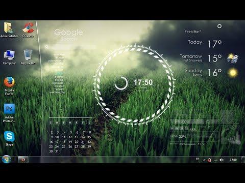 Download amazing windows 7 rainmeter skins