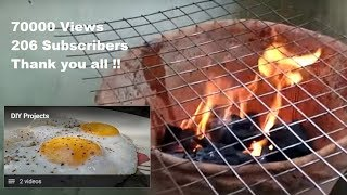 DIY Grill made from Flower pot