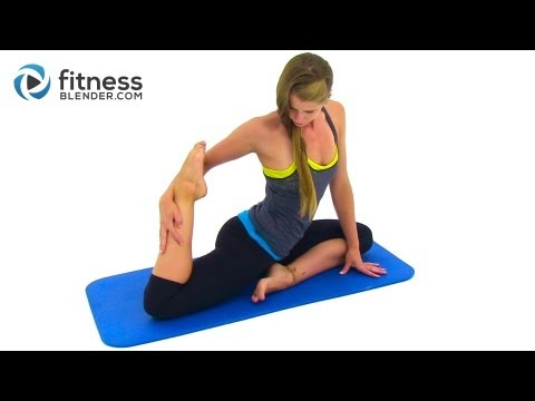 Goodbye Stress Calming Stretching Workout -- Full Body Yoga Infused Stretching Routine