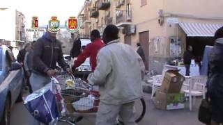 Palermo, sgomberato mercatino dell'usato a Ballarò