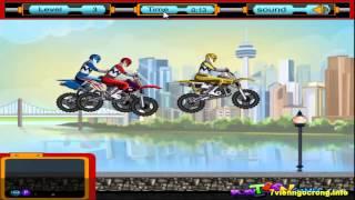Game sieu nhan - Game siêu nhân đua xe môtô